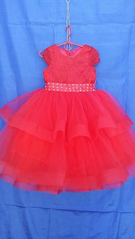Платье нарядное для девочки р.4-5 лет опт евро сетка, фото 2