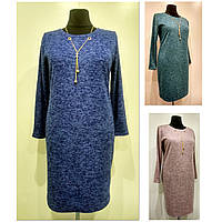 Платье женское осеннее большого размера 58 (54-62р) батал для полных женщин №385