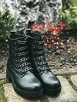 Ботинки Полусапоги зимние из натуральной кожи. 40