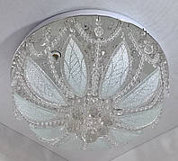 Люстра потолочная с цветной LED подсветкой с пультом (25х45х45 см.) Хром YR-6115/450