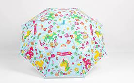 Дитячі парасолі FAMO Парасолька дитячий Єдиноріг м'ятний Діаметр купола 114.0(см)/ Довжина спиці 47.0(см)/ Довжина в складеному вигляді 66.0(см) (RST-082) #L/A
