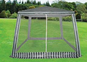 Павильон садовой 3х3 м. москитная сетка,4 стены