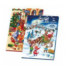 Адвент календарь шоколадный новогодний Only 75г, фото 2