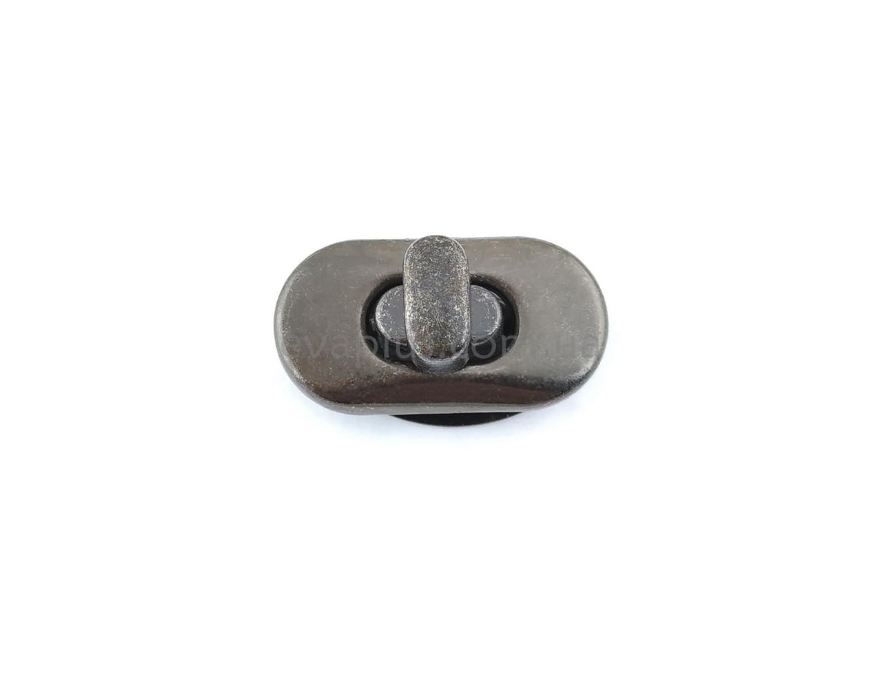 Барсеточный замок поворотный Х4 темный никель