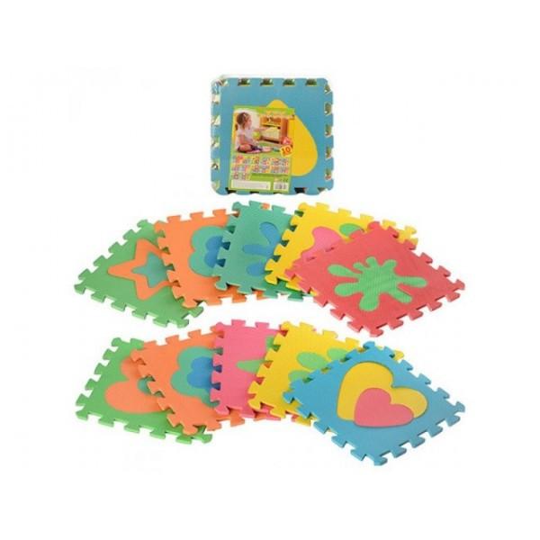 Детский Развивающий Игровой Коврик-Пазл Eva 10 деталей (2739)