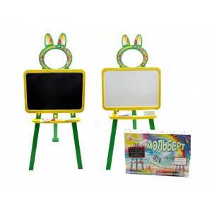 """Доска для рисования, мольберт ТМ """"Долони"""" магнитная Желто-зелёная (013777/2)"""