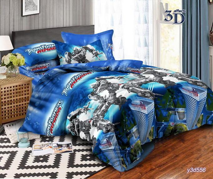 Двухспальный постельный комплект Трансформеры