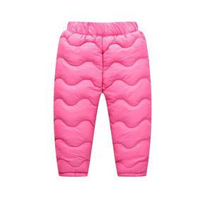 Штаны зимние на девочку  утепленные на синтепоне  розовые 4-6 лет