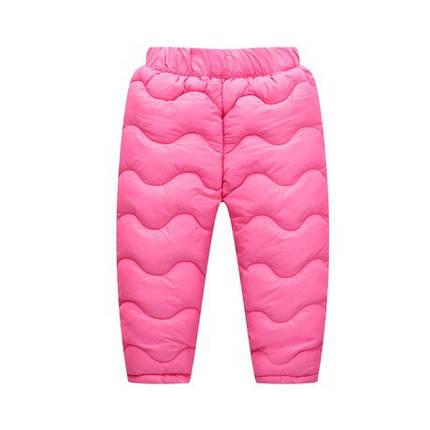 Штаны зимние на девочку  утепленные на синтепоне  розовые 4-6 лет, фото 2
