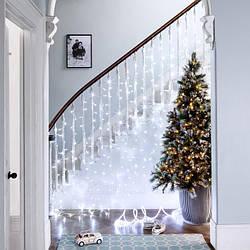 Гирлянда Штора 2 х 1.5 м 240 LED, Cоединяемая (Занавес, Curtain lights)