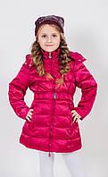 Детское пальто для девочки Верхняя одежда для девочек iDO Италия 4.R955.00 Красный