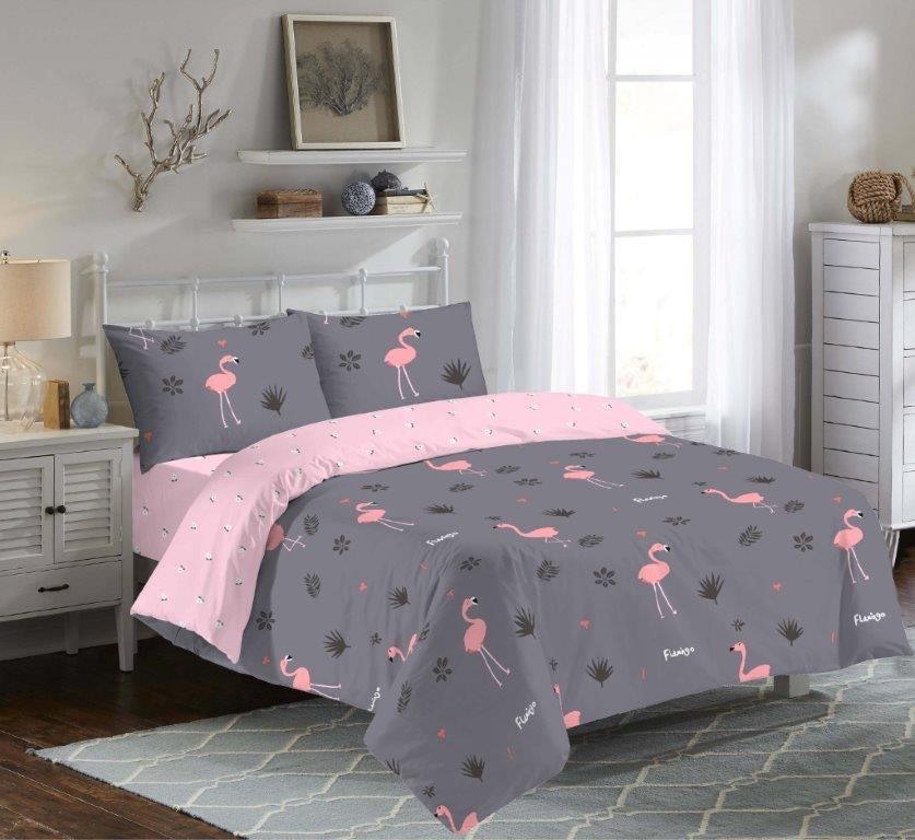 Двухспальный постельный комплект Чилийский фламинго