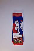 """Новорічні шкарпетки махрові жіночі зимові всередині бавовна """"Montebello"""""""
