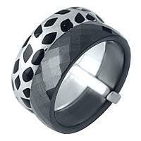 Серебряное кольцо Kolibri с керамикой, емаллю (1978054) 18 размер