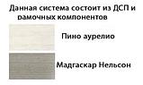 "Стильный комод 2Д4Ш ""Орегон"" фабрики Сокме, фото 3"