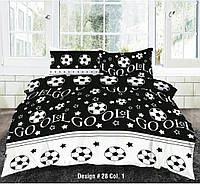 Семейное постельное белье-Футбол на черном