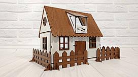 Кукольный Сельский Домик + мебель и свет в подарок