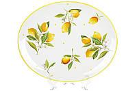 Блюдо овальне керамічне 30.5см Соковиті лимони
