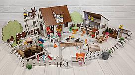 Крашеный кукольный домик для LOL Сельский Домик с Фермой, мебелью, текстилем и светом