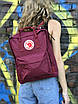 Бордовый рюкзак Fjallraven Kanken, фото 4