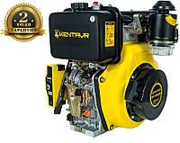 Двигатель ДВУ-420ДШЛЕ (10 л.с) +БЕСПЛАТНАЯ ДОСТАВКА! дизельный шлицевой с электростартером КЕНТАВР ДВЗ-420ДШЛЕ