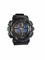 Часы K-Sport 898электронные + кварцевые в железной подарочной коробке. серый