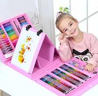 [ОПТ] Детский художественный набор для рисования с мольбертом 176 предметов
