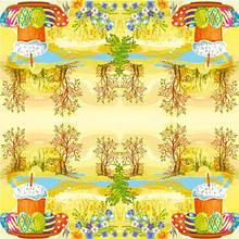 Серветки столові Luxy тришарові 33х33 см 20 шт. Пасхальне гуляння  (4820164965061)