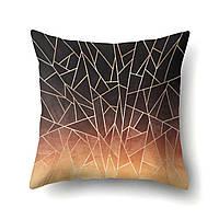 Подушка красивая декоративная Осколки 45 х 45 см