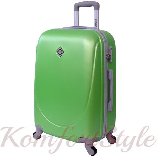 Дорожный чемодан на колесах Bonro Smile большой салатовый (10052803)
