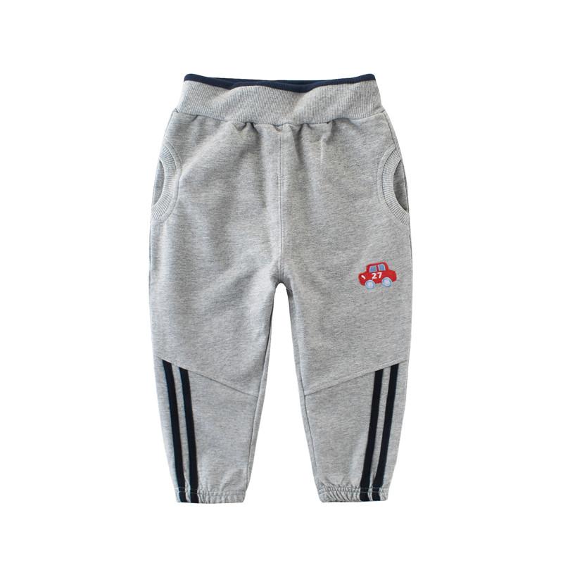 Штаны для мальчика Красная машинка, серый 27 KIDS