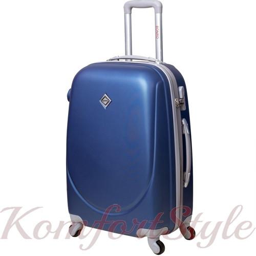 Дорожный чемодан на колесах Bonro Smile большой синий (10052802)