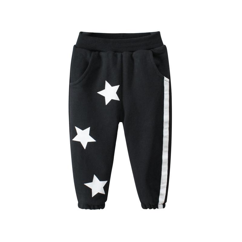 Штаны детские утеплённые Белые звёзды, чёрный 27 KIDS
