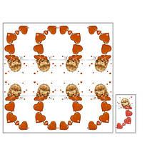 Салфетка ТМ Luxy 33*33 MINI, 3 шари, 10 шт Закоханий  їжачок 30упящ (4820164964811)