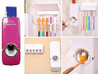 Дозатор для зубной пасты и держатель для зубной щетки Touch Me  Белый