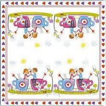 Серветки столові Luxy тришарові 33х33 см 20 шт. Чашка коханняі  (4820164969854)