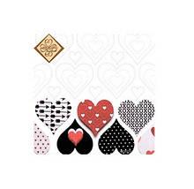 Серветки столові Luxy тришарові 33х33 см 20 шт. Палітра сердець  (4820164969830)