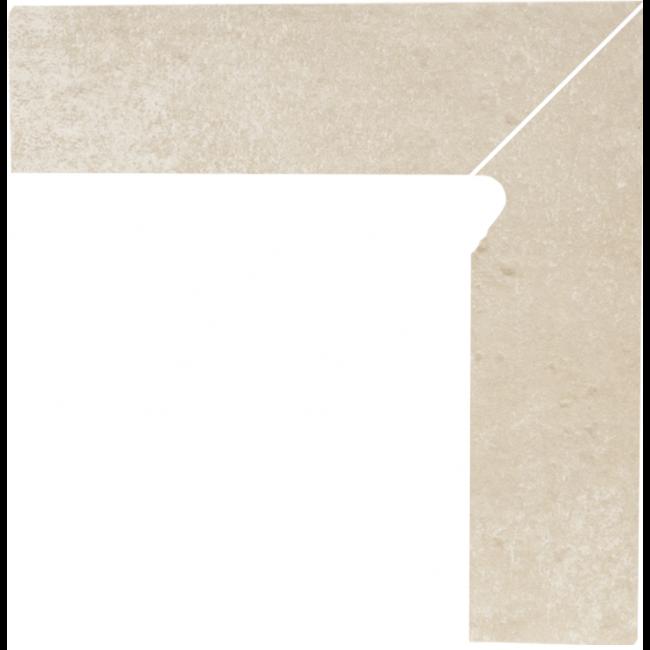Плинтус керамический Paradyz Cotto Crema Cokol Dwuelementowy Schodowy Prawy 8.1 x 30