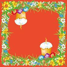 Серветки столові Luxy тришарові 33х33 см 20 шт. Пасхальний візерунок червона  (4820164961957)