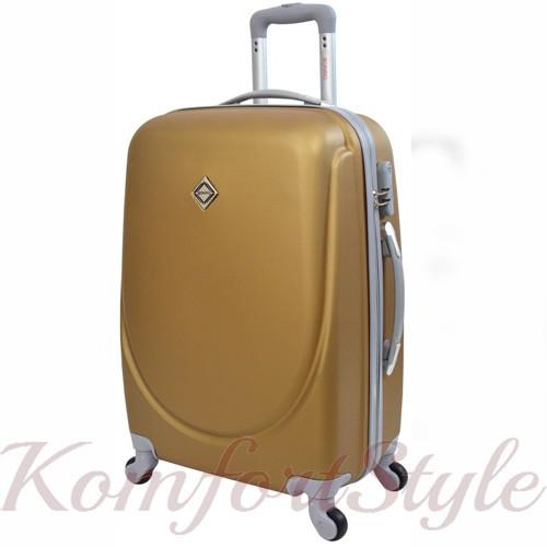 Дорожный чемодан на колесах Bonro Smile большой золотой (10052814)