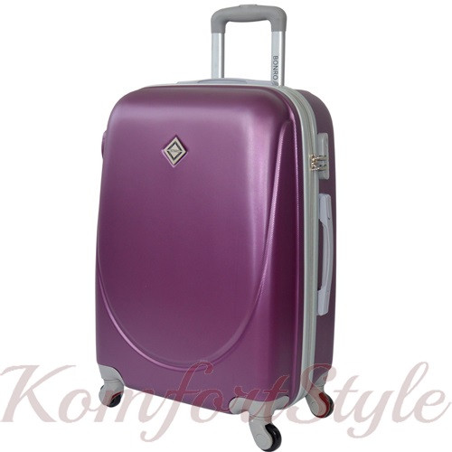 Дорожный чемодан на колесах Bonro Smile большой сиреневый (10052818)