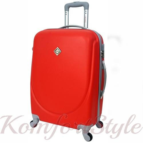 Дорожный чемодан на колесах Bonro Smile маленький бордовый (10052001)