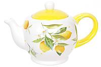 Чайник керамічний 1л Соковиті лимони