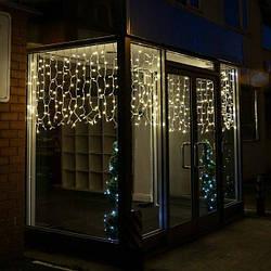 """Уличная светодиодная гирлянда мини-штора """"Занавес/бахрома"""" 3м*0.8м IP-54, 140 LED"""
