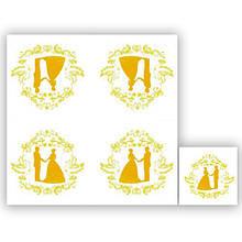 Серветки столові Luxy тришарові 33х33 см 20 шт. Молодята  (4820164962909)