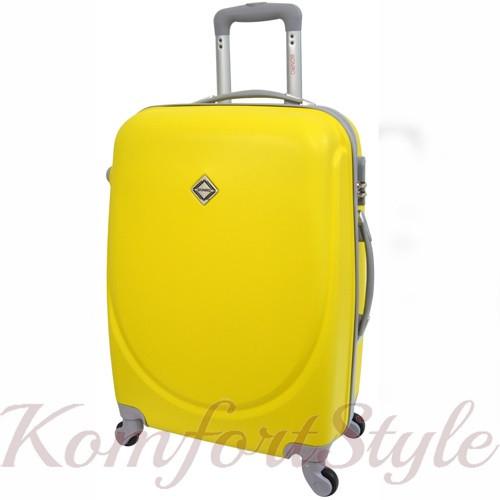 Дорожный чемодан на колесах Bonro Smile маленький желтый (10052000)