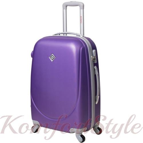 Дорожный чемодан на колесах Bonro Smile маленький фиолетовый (10052009)