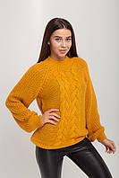 Горчичный женский свитер 44-50рр.