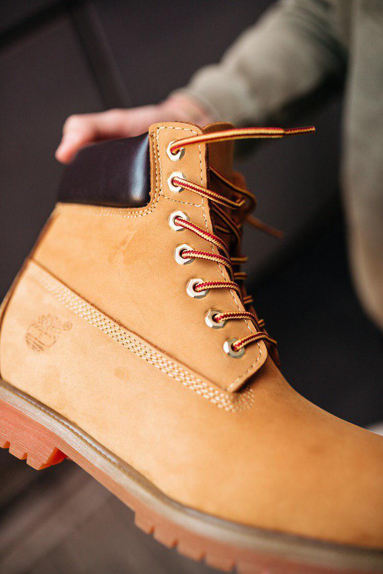 🔥 Ботинки мужские Timberland 6-Inch Boots Ginger Termo зимние теплые