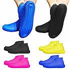 Многоразовые силиконовые бахилы для защиты обуви от дождя и грязи Waterproof silicone shoe cover S-M-L ОПТ, фото 2